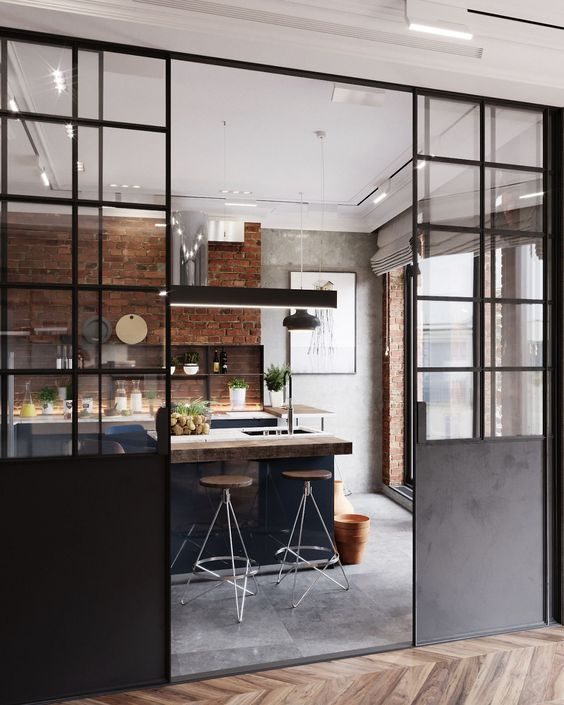 Industrial Style Glass Partition When A Detail Makes It All Bonjour Studio